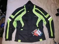 RK Sports Commander Motorcycle Jacket - Black & Yellow Size M