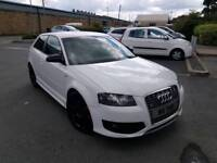 AUDI S3 2.0 TFSI MANUAL 3 DOOR WHITE NEW SHAPE STAGE 1 REMAP LEATHERS SAT NAV XENONS