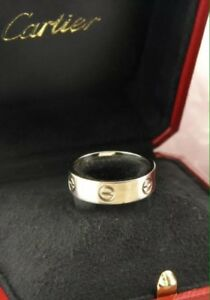 CARTIER LOVE RING SOLID 18K WHITE GOLD