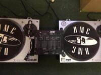 DJ Decks - x2 direct drive soundlab turntable decks + 4 channel BST mixer.