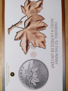 2012 $20 Farewell To The Penny - Pure Silver Coin