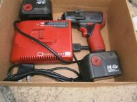 SNAP ON IMPACT GUN AND SNAP ON CORDLESS SCREWDRIVER