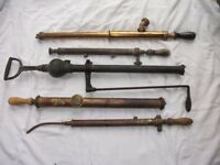 5 Old Brass Hand Pumps. See pictures for condition etc. Price Listed is for ALL 5