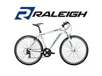 aleigh Misceo 1 Unisex 21 speed Aluminium 700C Hardtail Mountain Bike in White with 16 Inch Frame
