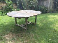 Westminster teak extendable garden table