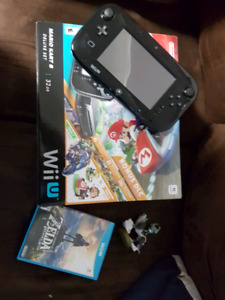 Wii u with games and extra controller