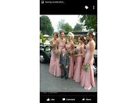 Pink Bridesmaid Dresses x2