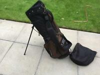 John Letters Golf Stand Bag & Rain Hood In Very Good Condition Callaway Ping Taylormade Titleist