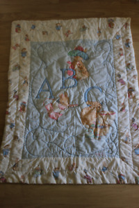Peter Rabbit quilt and matching Growth Chart