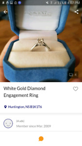 Engagement ring he paid $600.00 not 1600