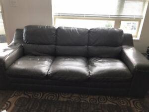 Genuine Fine Leather Three Seater Sofa