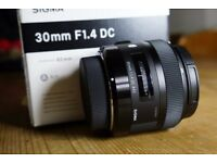 Sigma 30mm f/1.4 'ART' Lens for Canon - Condition 10/10 - Good as NEW!