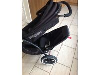 Phil & Teds classic double jogger pram