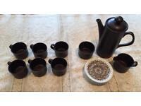 Brown Coffee Set