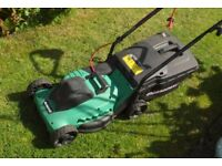 Qualcast rotary push lawn mower - GLM3200 1000w with expanding grass box