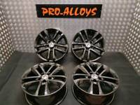 "17"" VAUXHALL ALLOY WHEELS *REFURBISHED* GLOSS BLACK 5X110 ASTRA CORSA ZAFIRA VECTRA SRI SXI"