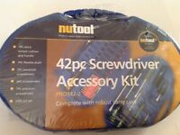 Nutool new 42 piece screwdriver accesssory kit