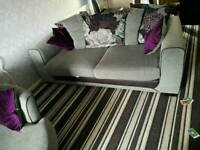 3 seater sofa and cuddle chair for sale