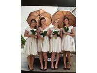 Champagne Teatro Satin Bridesmaid dress size 12 (2 available)