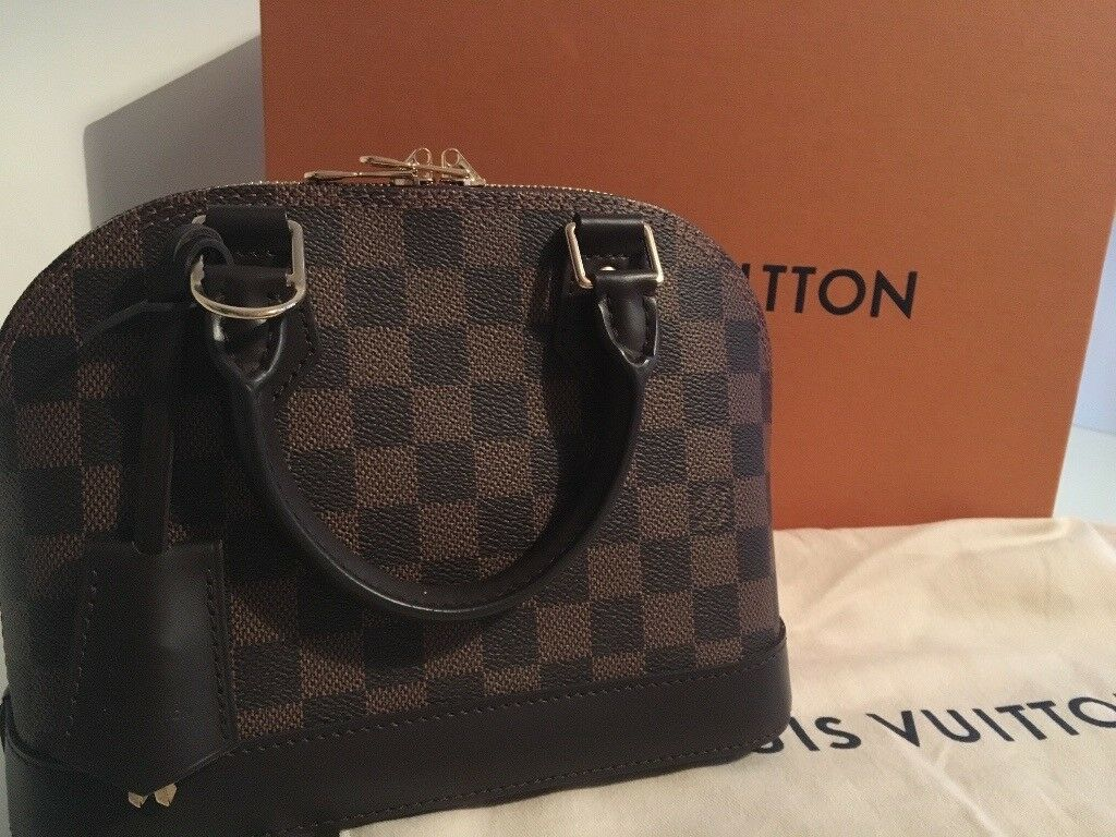 louis vuitton used bags. authentic damier ebene louis vuitton alma bb bag with receipt, box, bag. only used bags s