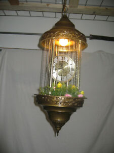 Swag Mineral Oil Lamp w/ Clock