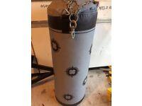 Decathlon heavy punch bag and matching heavy duty wall bracket