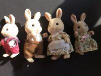 FOR SALE: Sylvanian families white Rabbit Family