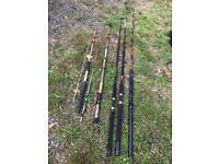 5 x boat sea fishing rods