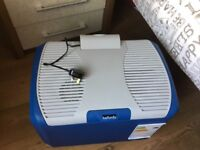 Folding party table and waste and water barrel £25 for lot also electric 40litre cooler box £50