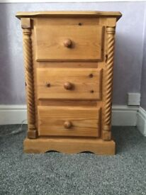 Solid pine bedside tables - £90 each - Excellent condition