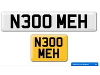 N300 MEH private cherished personalised personal registration plate number mechanics plate