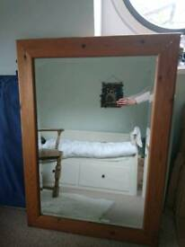 Extra large solid pine mirror