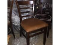 6 x dining chairs pub restaurant cafe NEW