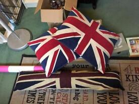 Union Jack Cushions and Doorstop
