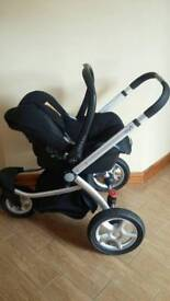 Pram and car seat travel system Mothercare My3