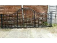 12 FT QUALITY FOLDING HEAVY IRON GATES IN 4 FT SECTIONS