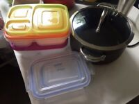 Casserole pot & containers