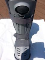 Air cast walker boot.
