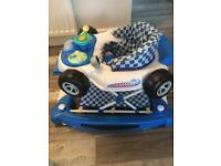 Baby walker/rocker car theme
