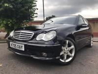 MERCEDES C220 SPORTS ESTATE AUTOMATIC DIESEL WITH HEATED LEATHER SEATS FSH