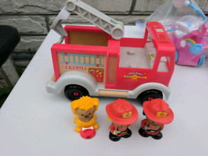 Play Town sets - Firetruck and School Bus
