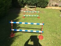 Mini jumps - equestrian style jumps for children or animal training