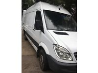 Mercedes sprinter 309 MWB high roof 2007 09 reg drives excellent ready for work tow bar