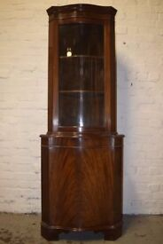 Mahogany Corner Cabinet (DELIVERY AVAILABLE)