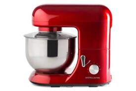 Andrew James 5.2 Litre Stand Food Mixer with Mixing Attachments - Red
