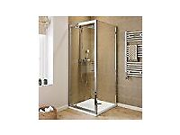 Shower enclosure, - consisting of hinge door and end panel, still boxed bought never used
