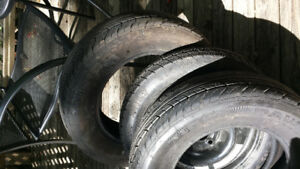 2 summer tires 1 spare P185/70R14