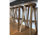 Set of four cheap wooden stools needed