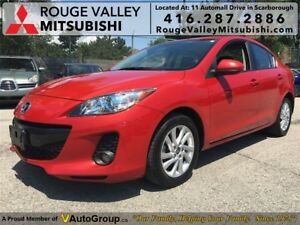 2013 Mazda Mazda3 GS-SKY, LEATHER SEATS AND SUNROOF !!!