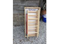 Fakro wooden loft ladder, needs new hatch cover, new never used.